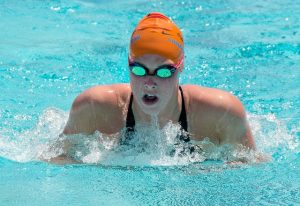 woman swimming endurance